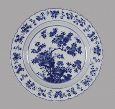 Plate with Foliated Rim
