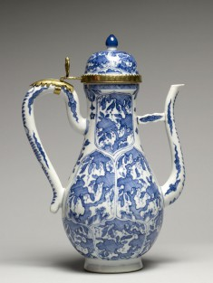 Ewer with Foliated Panels