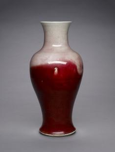 Large Red Baluster Vase