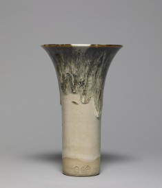 Flared Vase with Dripping Glaze