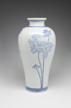 Vase with Lotus Flowers