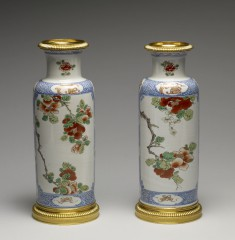 Pair of Vases with a Blossoming Branch