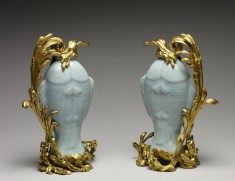 Pair of Vases in the Form of Twin Fish