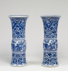 Pair of Vases with European Women