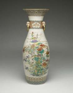 One of a Pair of Vases with Spring and Autumn Floral Sprays