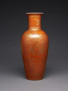 Vase with Formal Floral Designs