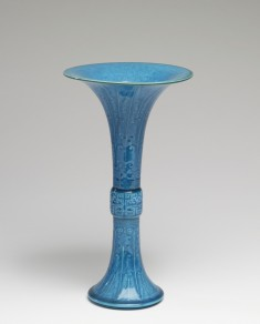 Vase in the Form of a Bronze Gu