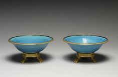 Pair of Bowls with Turquoise Glaze