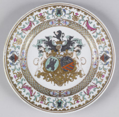 Plate with Armorials of Italian and Antwerp Family