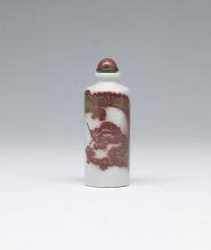 Snuff Bottle with Dragon in Pursuit of Pearl