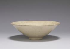Whiteware Bowl with Impressed Fish Design