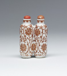 Snuff Bottle with Peony Scrolls