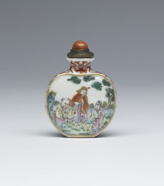 Snuff Bottle with Sages and Children