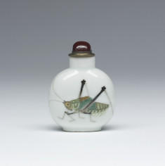 Snuff Bottle with Cricket