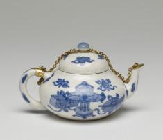Teapot with Buddhist Emblems