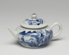 Teapot with Figures in a Mountain Landscape
