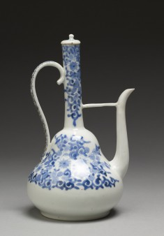 Ewer with Formal Floral Designs