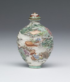 Snuff Bottle with River Landscape