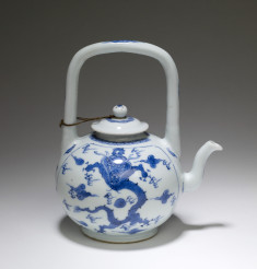Teapot with Dragons and Clouds
