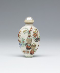 Snuff Bottle with Precious Objects
