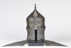 Turban Helmet with Neck Guard of Mail and Nose Guard