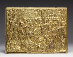 Plaque with Saint John the Baptist Preaching
