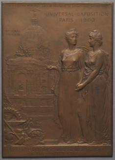 Model for a Plaque Commemorating the Universal Exposition, Paris, 1900