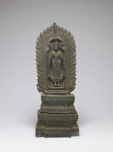 Standing Buddha on Throne