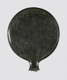 Mirror with Heracles, Dionysus, Ariadne, and Eros