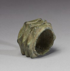 Spiked Washer from a Horse Bit with Six Rows of Three Points