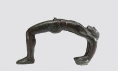 Cista Handle in the Form of a Man Somersaulting