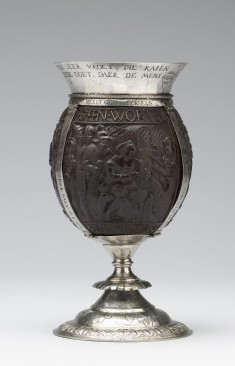 Coconut Cup with Old Testament Scenes