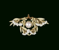 Laurel Leaves Brooch