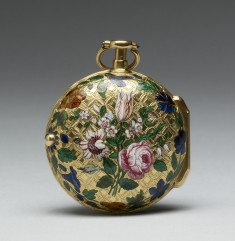 Watch with Floral Decoration
