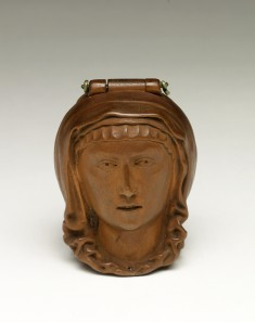 "Prayer Bead (""Nut"") in the Shape of the Head of the Virgin, Opens to Show Crucifixion"