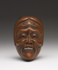 """Yase-Onna (""""Grieving Woman"""") Mask for a Ghost Role in a No Play"""