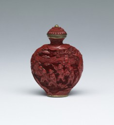 Snuff Bottle with Boys in a Landscape