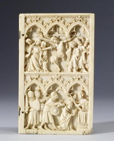Diptych Leaf with the Crucifixion, and the Martyrdom of Saint Thomas Becket