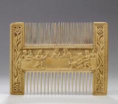 Comb with Secular Scenes