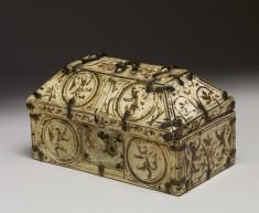 Truncated Pyramidal Box with Heraldic Motifs