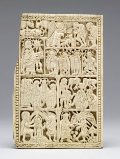 Book-Cover Plaque with Scenes of the Life of Christ