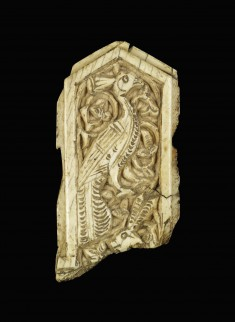 Ivory Plaque with Peacock