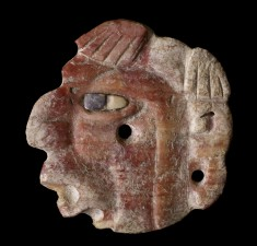 Engraved Profile Head with Inlaid Eye