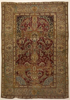 Prayer Rug with Floral and Ornamental Designs