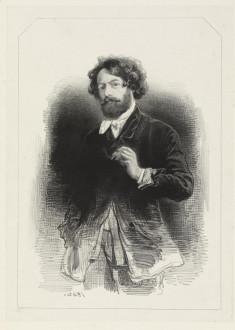 Self-Portrait Holding a Cigarette