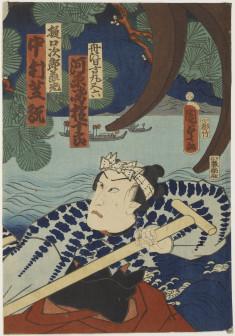 Boatmen with oars