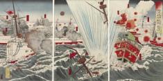 Triptych: Waga kantai daishori: Kaiyoto oki ni tekikan o uchishizumu