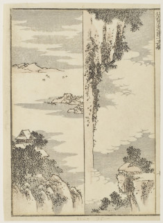 Two designs for landscape paintings