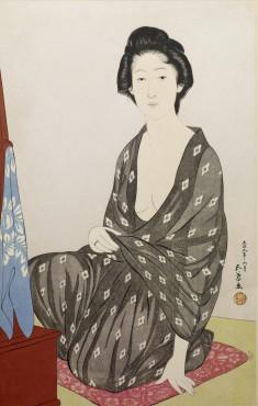 夏衣の女 (Woman in a Summer Kimono)