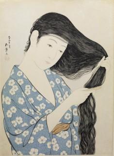 髪梳ける女 (Woman Combing Her Hair)